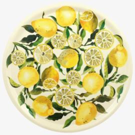 Emma Bridgewater Lemons Round Birch Wood Tray