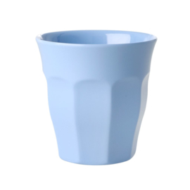 Rice Solid Colored Medium Melamine Cup in Pigeon Blue
