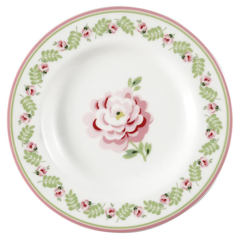 GreenGate Small Plate Lily petit white -stoneware-