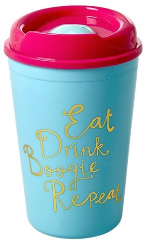Rice Plastic Thermo Cup -Eat Drink Boogie Repeat-