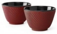 Bredemeijer  Cast Iron Tea Cups -set of 2- Xilin Red