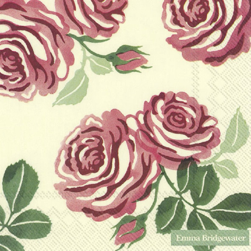 Emma Bridgewater Pink Roses Lunch Napkins