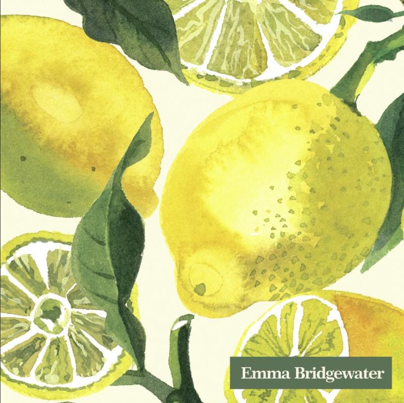 Emma Bridgewater Vegetable Garden Lemons Cocktail Napkins