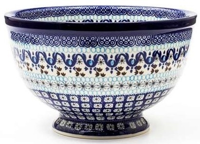 Bunzlau Bowl on Foot 22,5 cm Marrakesh