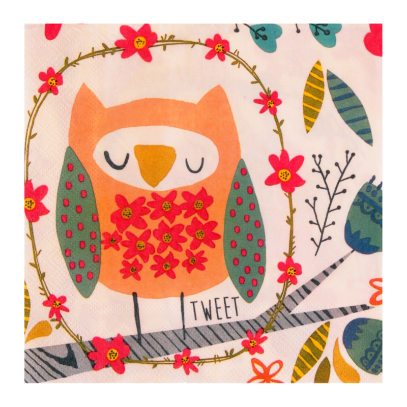 Ulster Weavers Paper Napkins Twit Twoo - set of 20