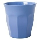 Rice Solid Colored Medium Melamine Cup in New Dusty Blue