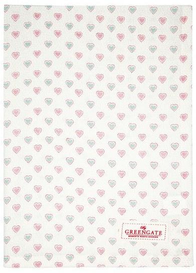 GreenGate Tea Towel Penny white