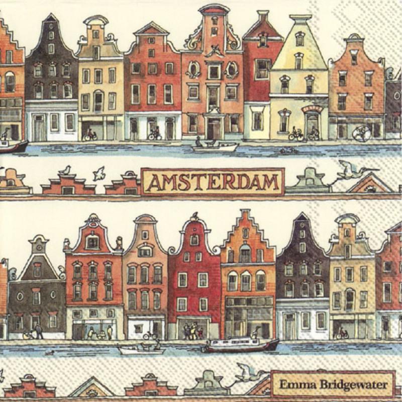 Emma Bridgewater Cities of Dreams Amsterdam Lunch Napkins