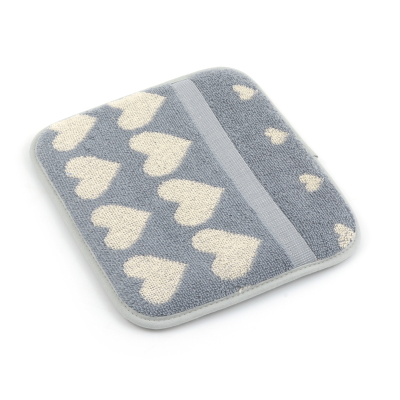 Bunzlau Kitchen Pot Holder Hearts Grey