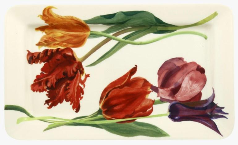 Emma Bridgewater Flowers Tulips Medium Oblong Plate *b-keuze*