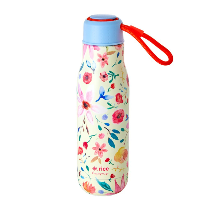 Rice Isolating Drinking Bottle with Selmas Flower print - RVS