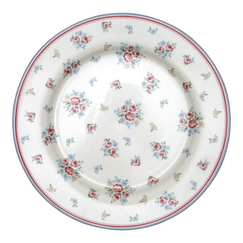 GreenGate Dinnerplate Nicoline white -stoneware-
