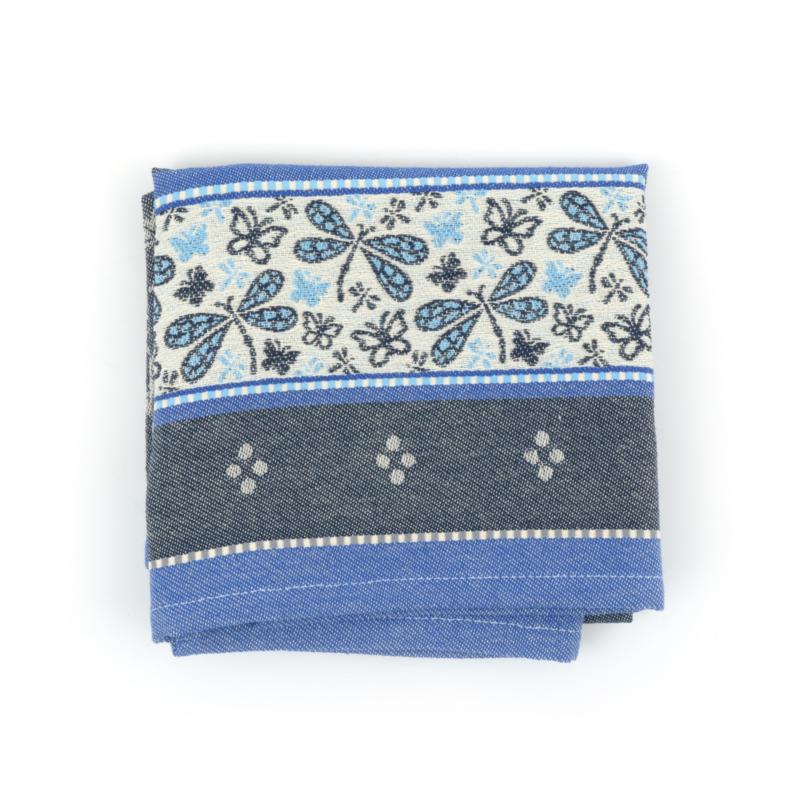 Bunzlau Tea Towel Dragonfly Dark Blue