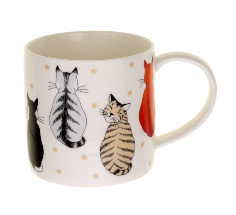 Ulster Weavers Straight Sided Mug Cats in Waiting -Model A-