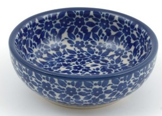 Bunzlau Serving Bowl 100 ml Indigo H: 3 cm, Ø:  9 cm