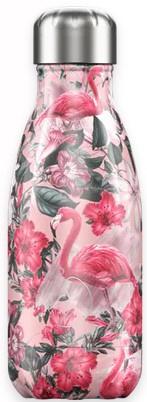 Chilly's Drink Bottle 260 ml Tropical Flamingo -glad en glanzend-