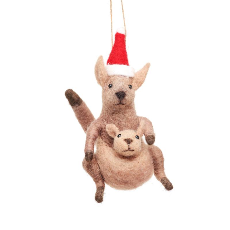 Sass & Belle Kangaroo & Baby Felt Decoration