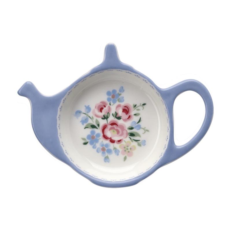 GreenGate Teabag holder Nicoline dusty blue