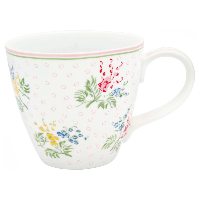 GreenGate Mug Mira white -stoneware-