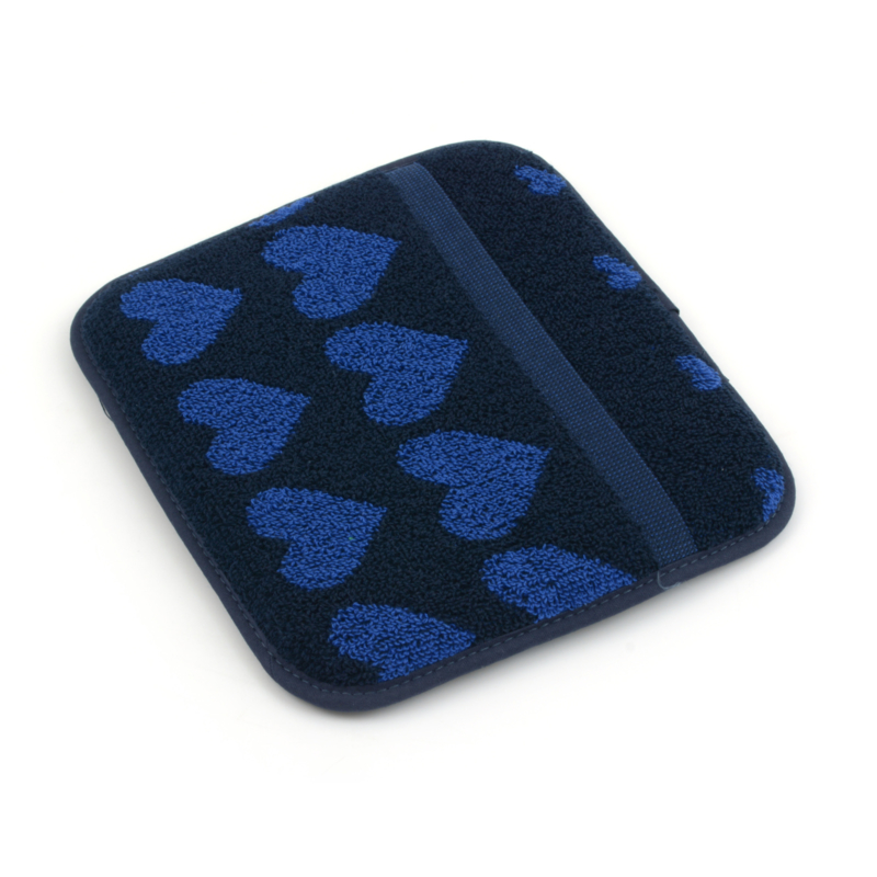 Bunzlau Kitchen Pot Holder Hearts Dark Blue
