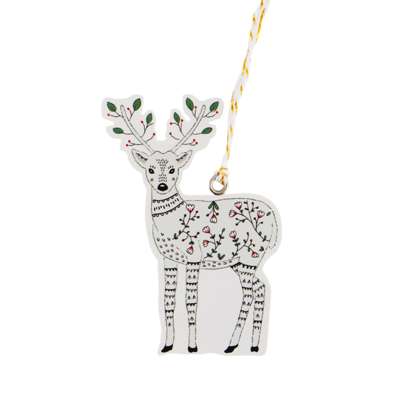 Sass & Belle Gift Tags Winter Folk Deer -Set of 6-
