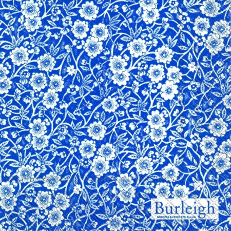 IHR Burleigh Calico Blue Cocktail Napkins