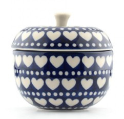 Bunzlau Apple Pot 300 ml Blue Valentine