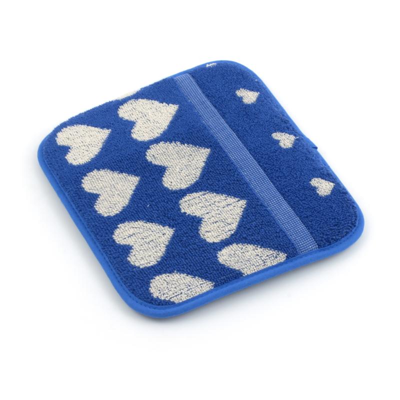 Bunzlau Kitchen Pot Holder Hearts Royal Blue