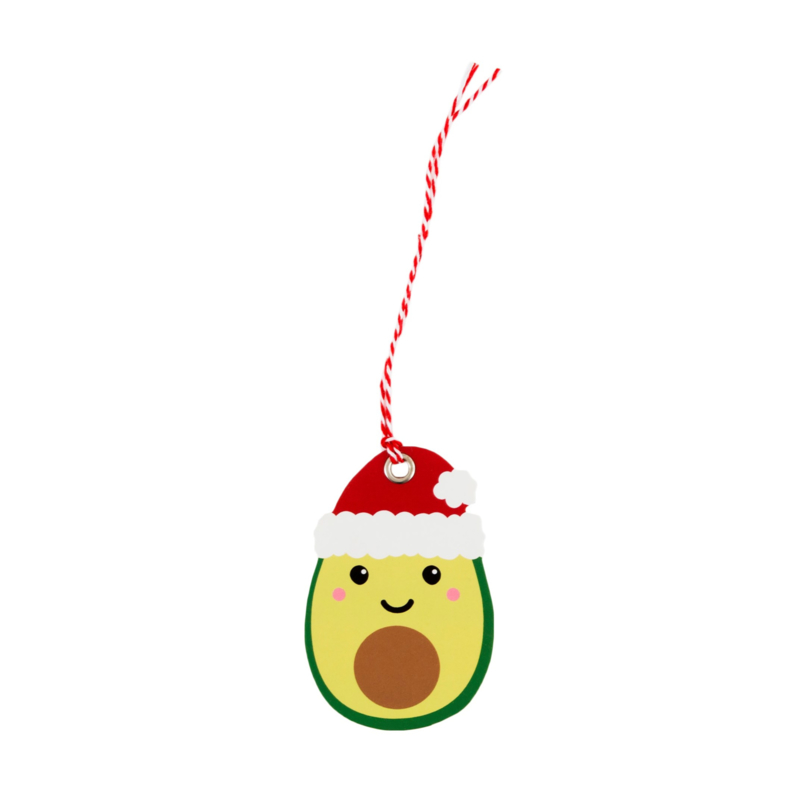 Sass & Belle Gift Tags Christmas Avocado -Set of 6-