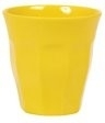 Rice Solid Colored Medium Melamine Cup in Yellow