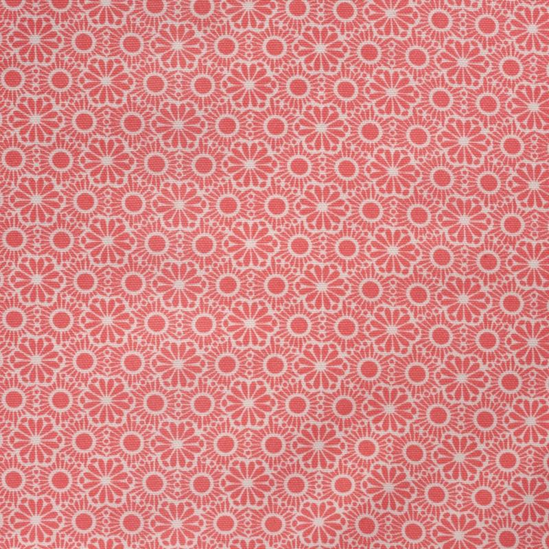Rice Pastel Neon Coral Marrakesh Printed Oilcloth