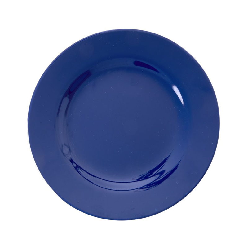 Rice Melamine Side Plate in Navy Blue