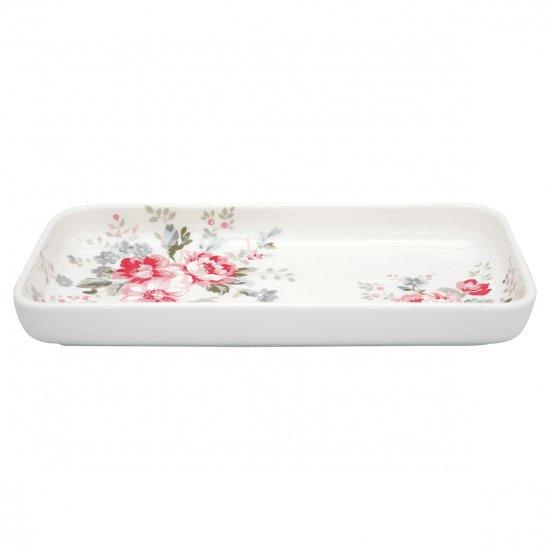 GreenGate small Tray Elouise white -stoneware-