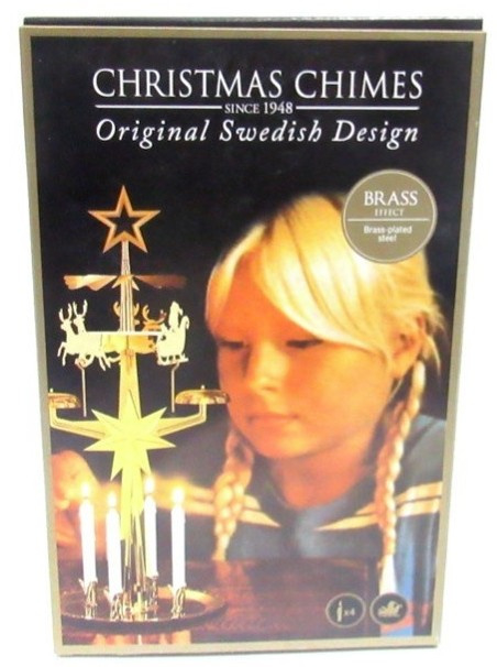 Christmas Chimes -Rendieren- Original Swedish Design -goudkleurig-