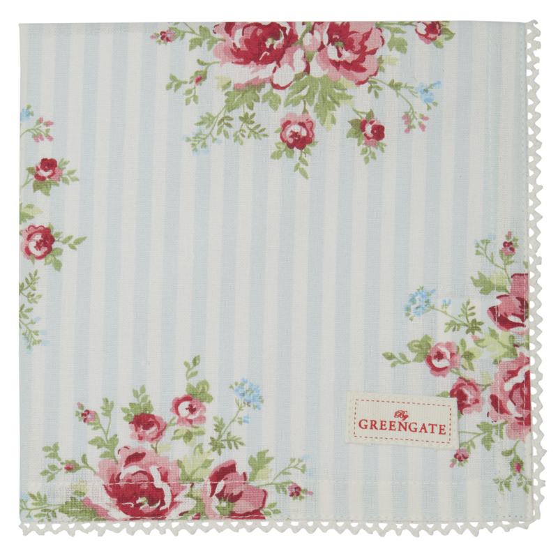 GreenGate Napkin with lace Nellie pale blue *limited edition*