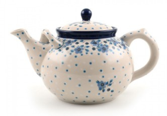 Bunzlau Teapot 2 l Blue White Love