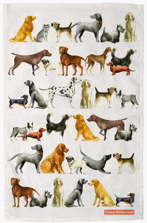 Emma Bridgewater Dogs Tea Towel