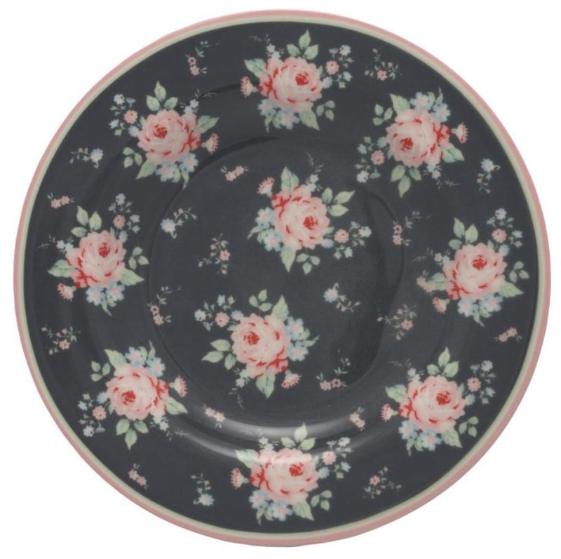 GreenGate Small Plate Marley dark grey -stoneware-