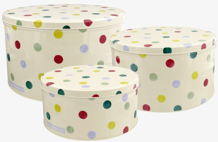 Emma Bridgewater Polka Dot Set of 3 Round Cake Tins