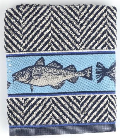 Bunzlau Kitchen Towel Fish Dark Blue