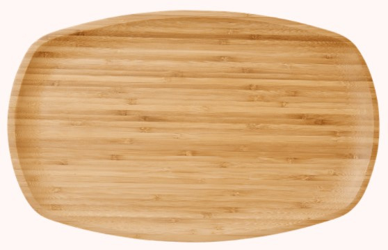 Rice Rectangular Bamboo Serving Dish - Plate - Tray