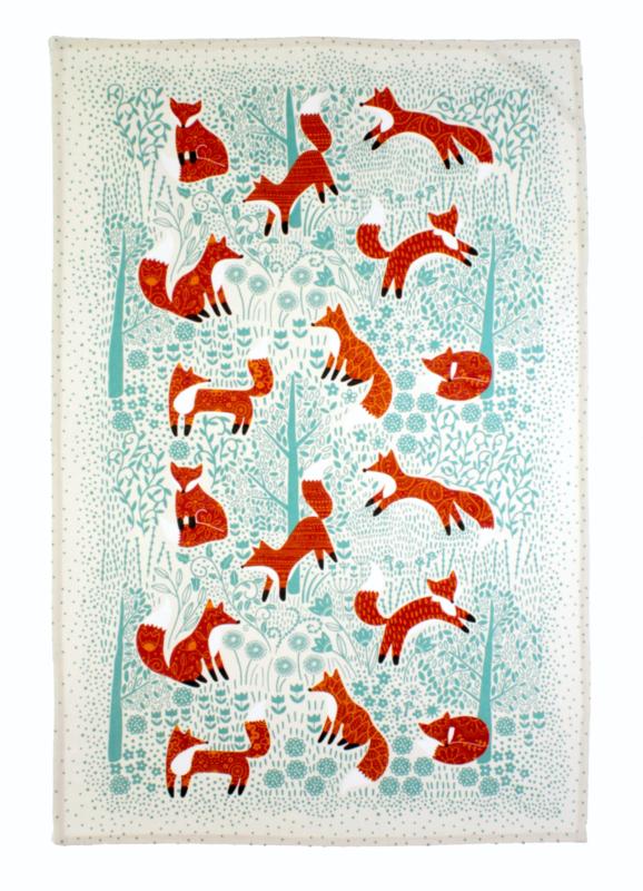 Ulster Weavers Tea Towel Foraging Fox