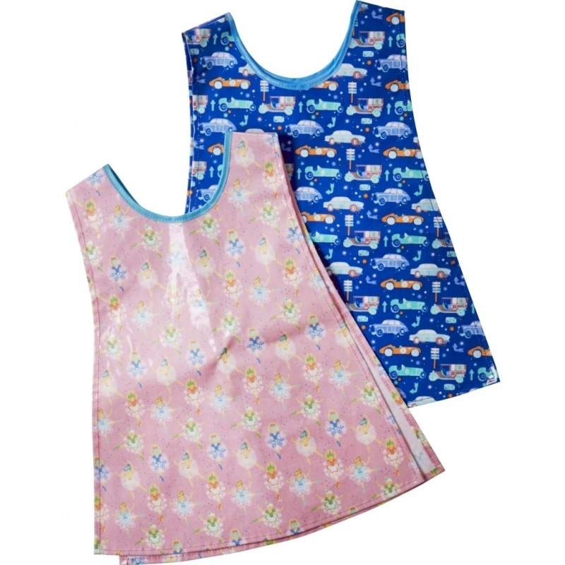 Rice Small Kids Laminated Vest Apron in 2 Assorted Prints