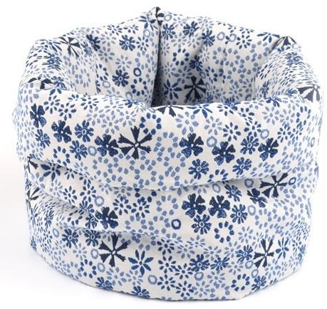 Bunzlau Bread Basket Indigo Lace