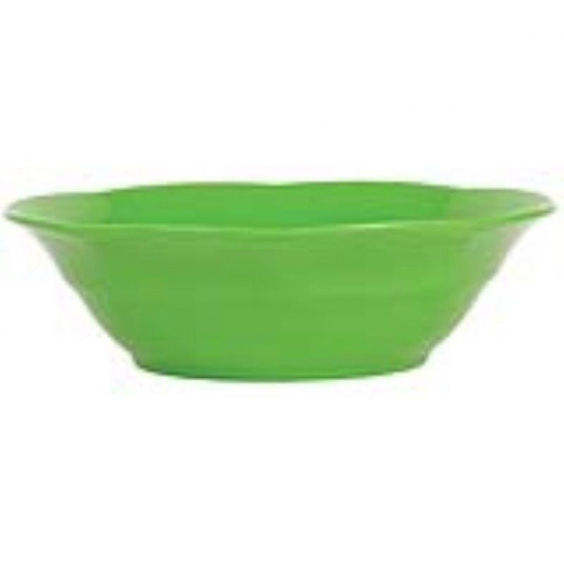 Rice Melamine Soup Bowl in Apple Green