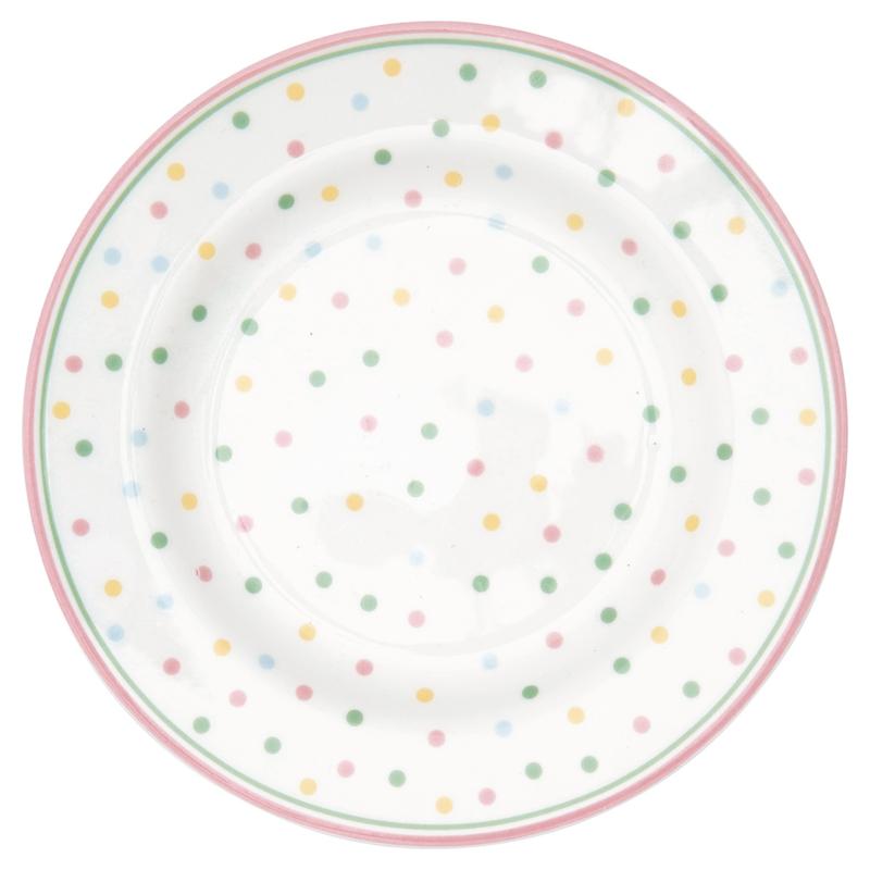 GreenGate Small Plate Bonnie white -stoneware-