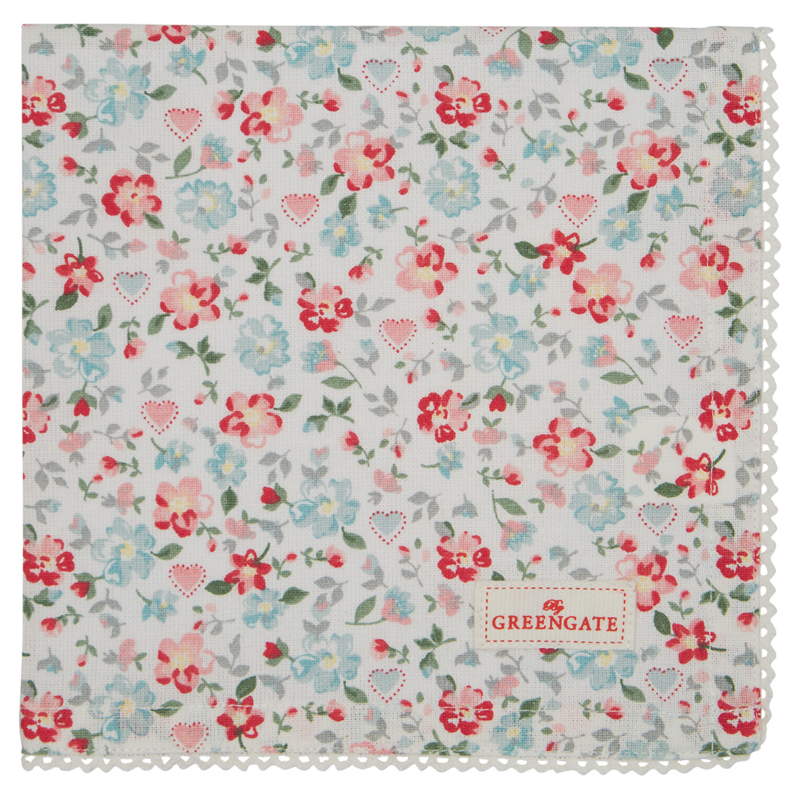 GreenGate Napkin with lace Merla white -Limited Edition-