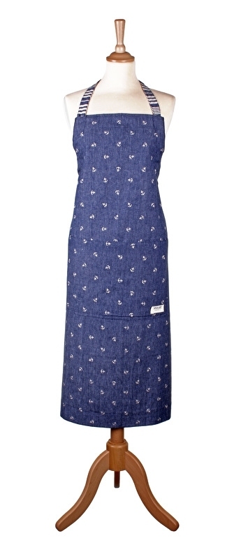 Ulster Weavers Cotton Apron Scattered Anchor (Seasalt) -very clever-