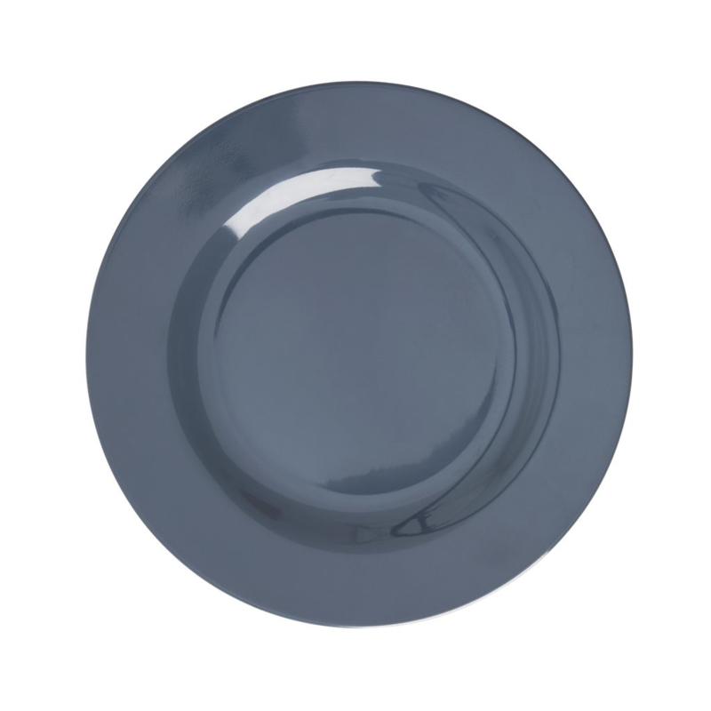 Rice Melamine Side Plate in Dark Grey