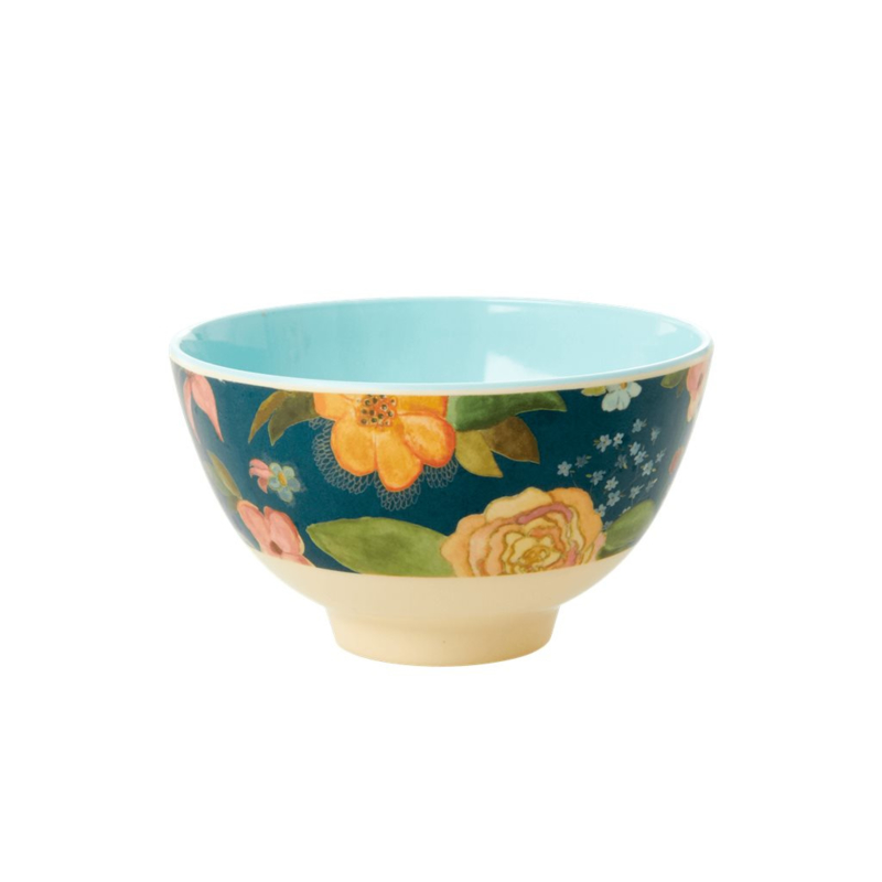 Rice Small Melamine Bowl - Selma Fall Flower Print *vernieuwd model*